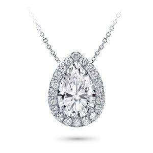 Diamond Pendant Necklace | Fine Jewellery made in Antwerp | Diamanten Pendantief | Pendatieven | Ketting | Wit Goud Kettingen | Halo Diamond Pendantief | Solitaire Pendant | Solitaire Pendantief | Solitaire Diamanten Ketting