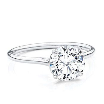 Classico Basic Four Claws Diamond Engagement Ring