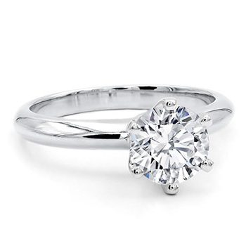 Classico Basic Six Claws Diamond Engagement Ring