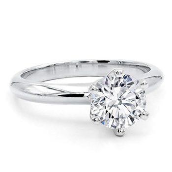 Classico Basic Six Claws Diamond Engagement Ring