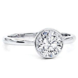 Diamanten verlovingsring Classic Bezel Set Solitaire