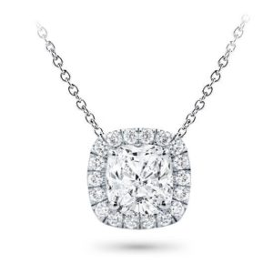 Classic Klassieke zetting simple simpele Setting Pendant Classic Solitaire White Klassieke Pendantief Ketting hals Diamanten collier Yellow Geel Goud 1 karaat carat white gold cushion kussen round