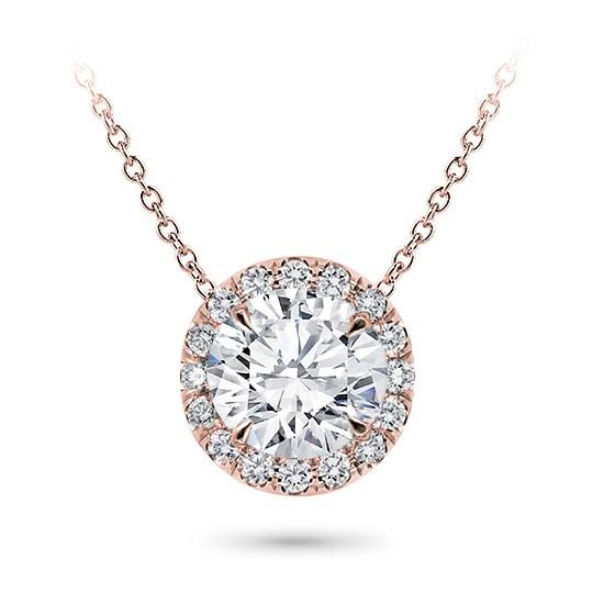 Classic Klassieke zetting simple simpele Setting Pendant Classic Solitaire White Klassieke Pendantief Ketting hals Diamanten collier Yellow Geel Goud 1 karaat carat white gold rond brilliant round rose roze
