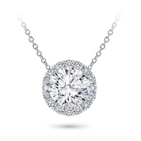 Classic Klassieke zetting simple simpele Setting Pendant Classic Solitaire White Klassieke Pendantief Ketting hals Diamanten collier Yellow Geel Goud 1 karaat carat white gold rond brilliant round
