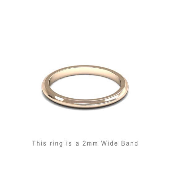 Wedding Band Trouwringen Antwerp Antwerpen Rose Roos Goud Gold D Shape comfort fit 18k solid classic ring 2mm Belgie