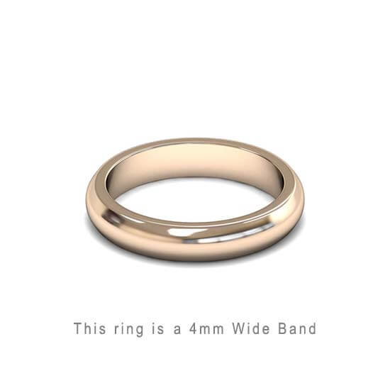 Wedding Band Trouwringen Antwerp Antwerpen Rose Roos Goud Gold D Shape comfort fit 18k solid classic ring 4mm Belgie