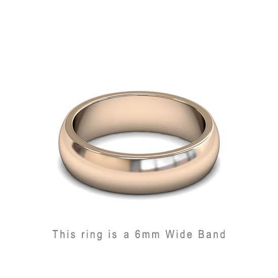 Wedding Band Trouwringen Antwerp Antwerpen Rose Roos Goud Gold D Shape comfort fit 18k solid classic ring 6mm Belgie