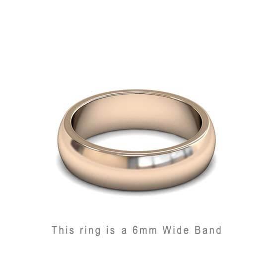 Wedding Band Trouwringen Antwerp Antwerpen Rose Roos Goud Gold D Shape comfort fit 18k solid classic ring 6mm Belgie