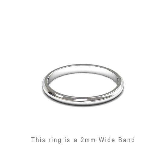 Wedding Band Trouwringen Antwerp Antwerpen Wit White Goud Gold D Shape comfort fit 18k solid classic ring 2mm Belgie