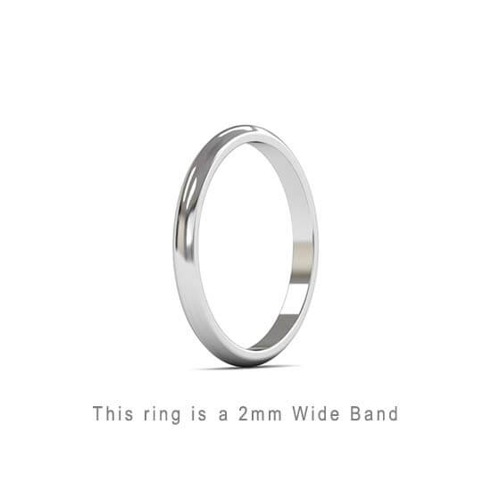 Wedding Band Trouwringen Antwerp Antwerpen Wit White Goud Gold D Shape comfort fit 18k solid classic ring 2mm Belgie