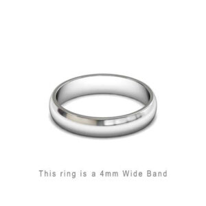 Wedding Band Trouwringen Antwerp Antwerpen Wit White Goud Gold D Shape comfort fit 18k solid classic ring 4mm Belgie