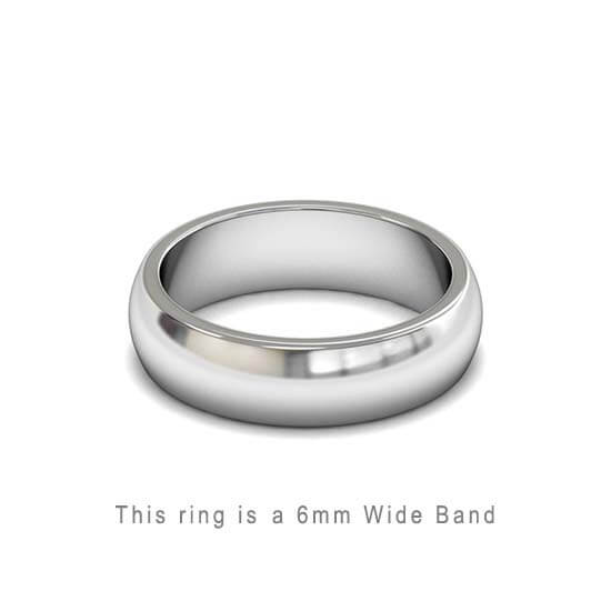 Wedding Band Trouwringen Antwerp Antwerpen Wit White Goud Gold D Shape comfort fit 18k solid classic ring 6mm Belgie