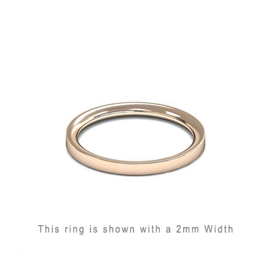 Traditional Flat Court Wedding Band Rose Gold 2mm Curved | Gouden Ring Trouwring Vriendschapsring Plat karaat 18kt 18ct solid trouwringen in Antwerpen kopen Antwerp golden rings friend rings wedding bands
