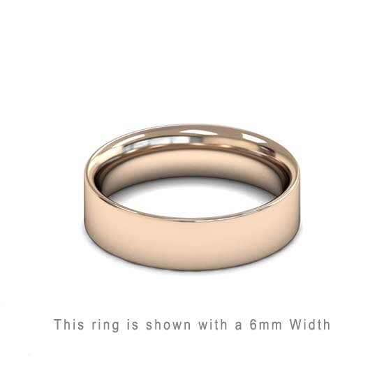 Traditional Flat Court Wedding Band Rose Gold 2mm Curved | Gouden Ring Trouwring Vriendschapsring Plat karaat 18kt 18ct solid trouwringen in Antwerpen kopen Antwerp golden rings friend rings wedding bands 6mm rose gold thick heavy