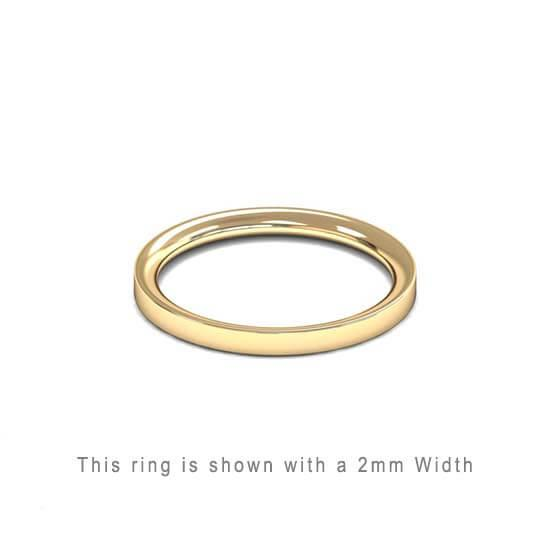 Traditional Flat Court Wedding Band Rose Gold 2mm Curved | Gouden Ring Trouwring Vriendschapsring Plat karaat 18kt 18ct solid trouwringen in Antwerpen kopen Antwerp golden rings friend rings wedding bands yellow platinum geel gold goud 2mm thick