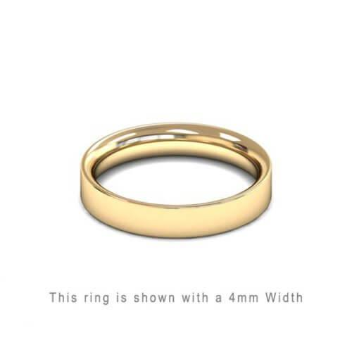 Traditional Flat Court Wedding Band Rose Gold 2mm Curved | Gouden Ring Trouwring Vriendschapsring Plat karaat 18kt 18ct solid trouwringen in Antwerpen kopen Antwerp golden rings friend rings wedding bands yellow platinum geel gold goud 4mm thick