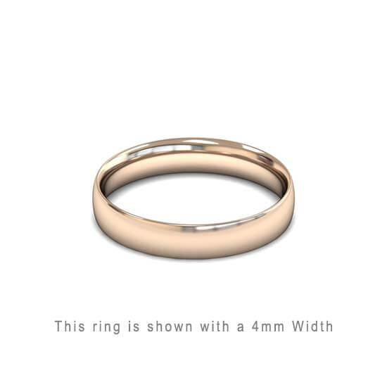 Traditional Wedding Band Rose Gold 2mm Curved 2 Comfort Fit Trouwring Roos Goud Juwelier in Antwerpen 4mm dik Ring