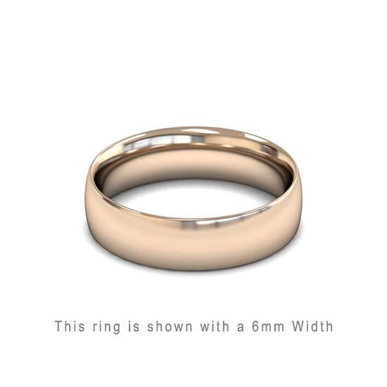 Traditional Wedding Band Rose Gold 2mm Curved 2 Comfort Fit Trouwring Roos Goud Juwelier in Antwerpen 5mm dik massieve ring handgemaakt in Antwerpen