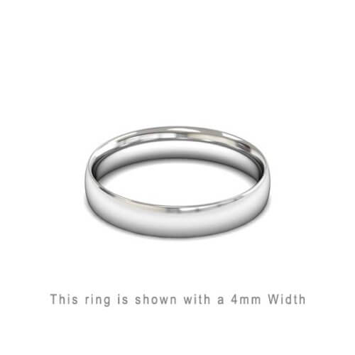 Traditional Wedding Band Rose Gold 2mm Curved 2 Comfort Fit Trouwring Wit Goud Juwelier in Antwerpen 4mm breed