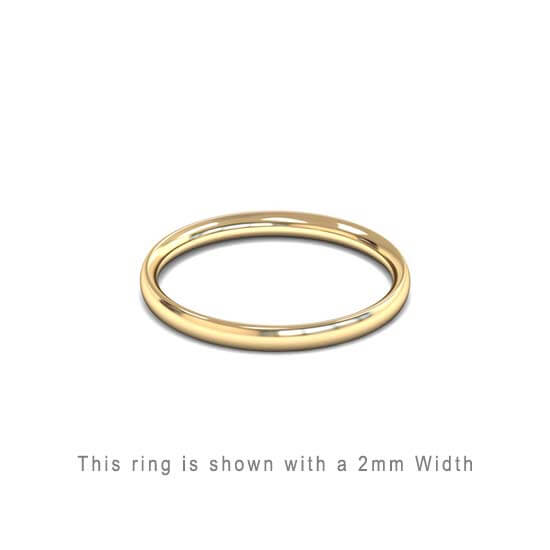 Traditional Wedding Band Rose Gold 2mm Curved 2 Comfort Fit Trouwring Geel Goud Juwelier in Antwerpen 2mm breed