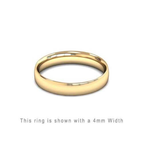 Traditional Wedding Band Rose Gold 2mm Curved 2 Comfort Fit Trouwring Geel Goud Juwelier in Antwerpen 6mm breed