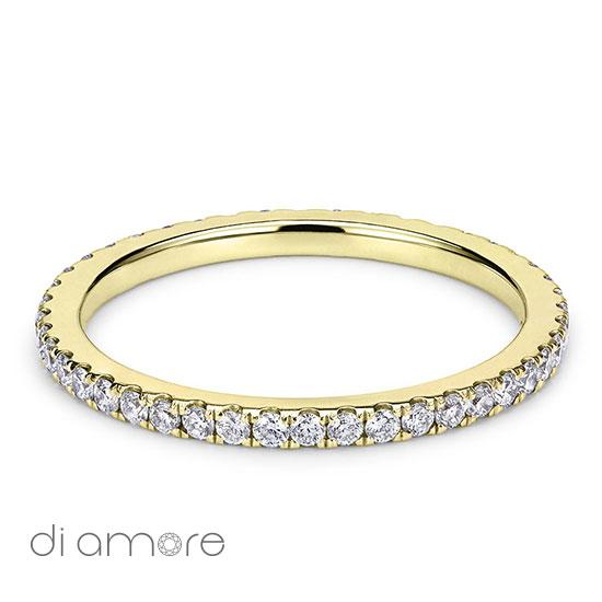 Ava Thin Full Eternity Ring Yellow White Rose Gold Roze Goud Volle Trouwring Trouwringen Antwerp Belgie Belgium handmade jewelry fine certified bourse diamonds diamanten