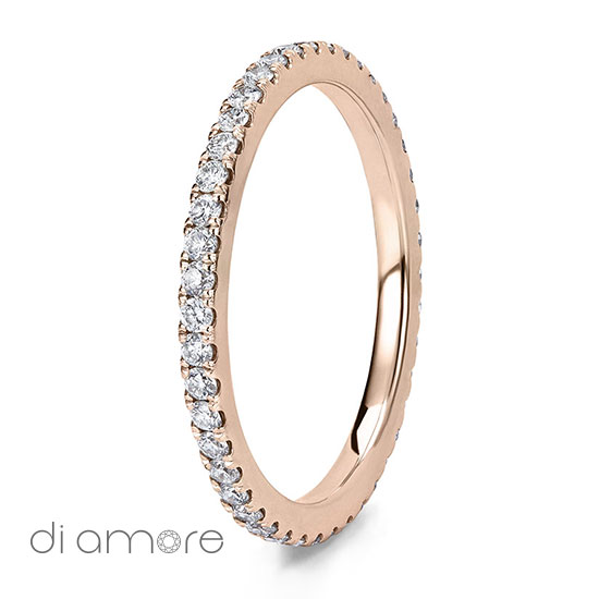 Ava Thin Full Eternity Ring Yellow White Rose Gold Roze Goud Volle Trouwring Trouwringen Antwerp Belgie Belgium handmade jewelry fine certified bourse diamonds diamanten