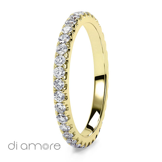 Wit Goud Witte Ava Medium 2mm Full Eternity Ring Yellow White Rose Gold Roze Goud Volle Trouwring Trouwringen Antwerp Belgie Belgium handmade jewelry fine certified bourse diamonds diamanten