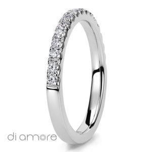 Half Eternity White Diamond white Gold 18k Alliance Eternal Diamond Rings Antwerp Bling medium Ava 2mm