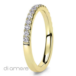 2mm Ava Med Yellow Eternity Ring Diamant Eternity Ring for women