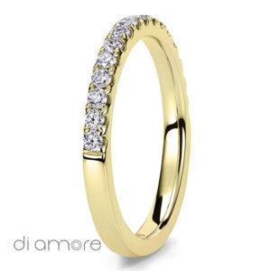 2mm Ava Med Yellow Eternity Ring Diamant Eternity Ring for women