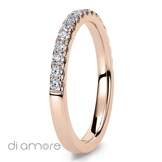 Rose Pink Gold Halve Half Eternity White Diamond white Gold 18k Alliance Eternal Diamond Rings Antwerp Bling thin Ava 1.5mm Yellow Diamonds Antwerp Eternity Wedding Band Trouwring met diamanten diamant Rose Roze 2mm