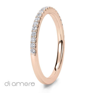Geel Goud Halve Half Eternity White Diamond white Gold 18k Alliance Eternal Diamond Rings Antwerp Bling thin Ava 1.5mm Yellow Diamonds Antwerp Eternity Wedding Band Trouwring met diamanten diamant Rose Roze