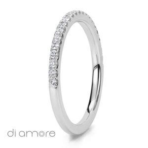Half Eternity White Diamond white Gold 18k Alliance Eternal Diamond Rings Antwerp Bling thin Ava 1.5mm