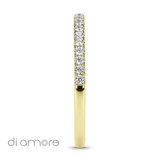 Geel Goud Halve Half Eternity White Diamond white Gold 18k Alliance Eternal Diamond Rings Antwerp Bling thin Ava 1.5mm Yellow Diamonds Antwerp Eternity Wedding Band Trouwring met diamanten diamant