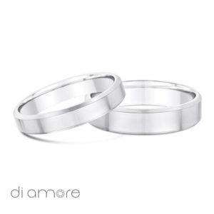 Wedding Bands - Trouwringen - Bague Alliance - with bevel edge matt gloss Mat Ring