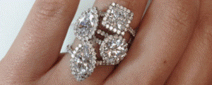 diamond shapes on finger